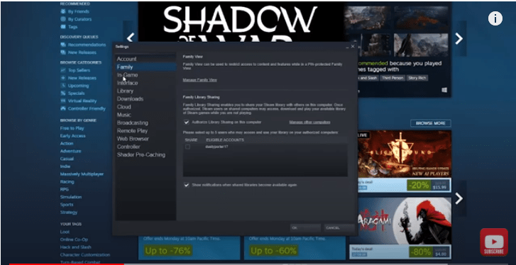 How to Family Share Games on Steam