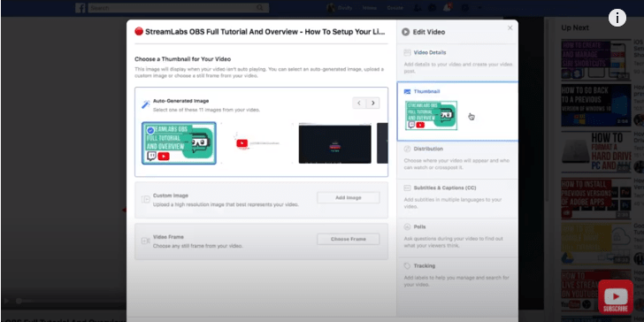 How to Change a Facebook Video Thumbnail