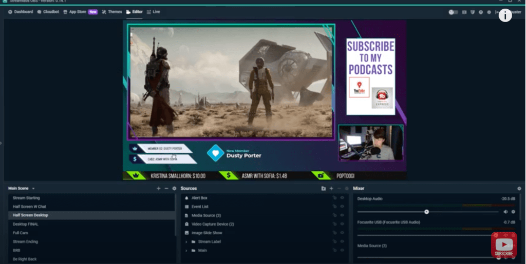 How to Add an Event List in Streamlabs OBS
