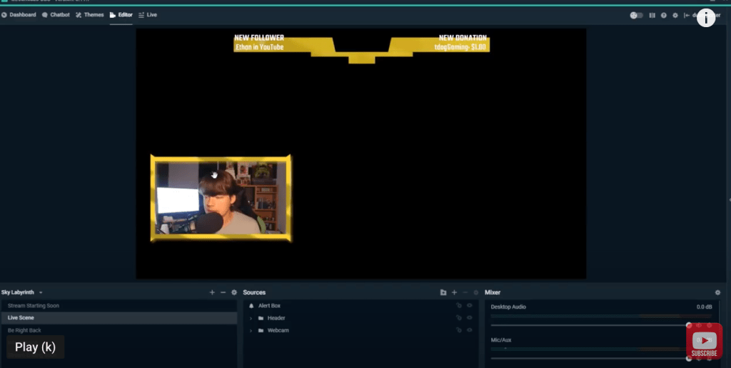 how to set up stream labels in Streamlabs OBS