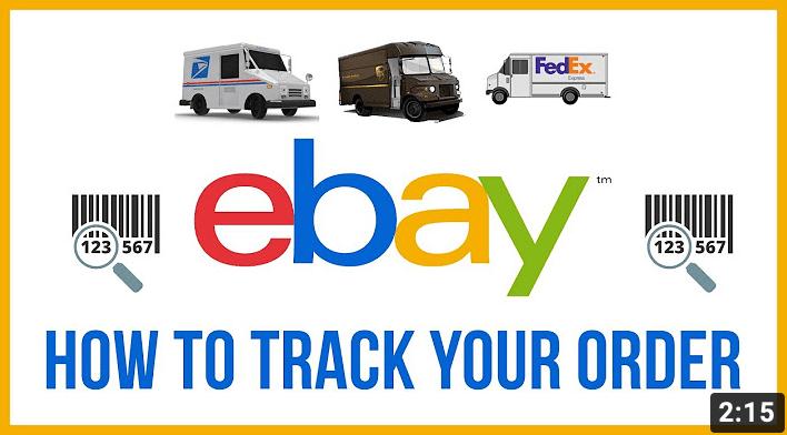 track an order on eBay