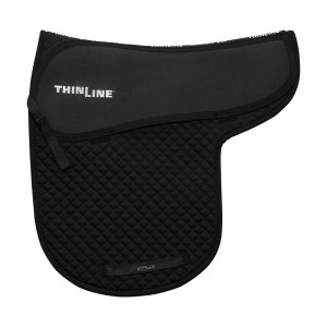 ThinLine Numnah Dressage Saddle Pad Black