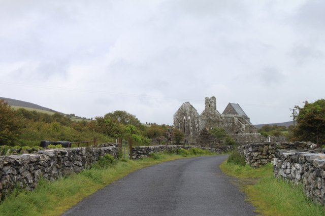 The approach to Corcomroe Abbey - The Burren - Ireland