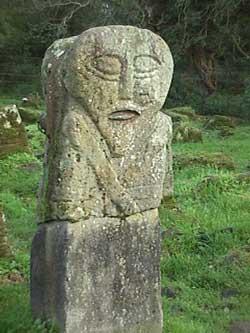 The Janus Figure in Caldragh Cemetery