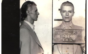 TV news footage of David Bowie's 1976 arrest in Rochester,…