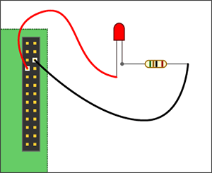 LED connection to RPi GPIO