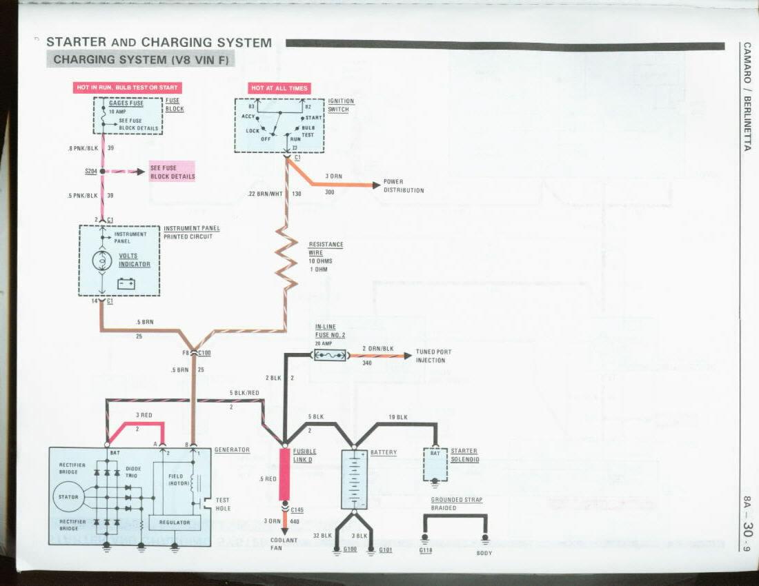 Diagram Corvette Alternator 77 Wiring