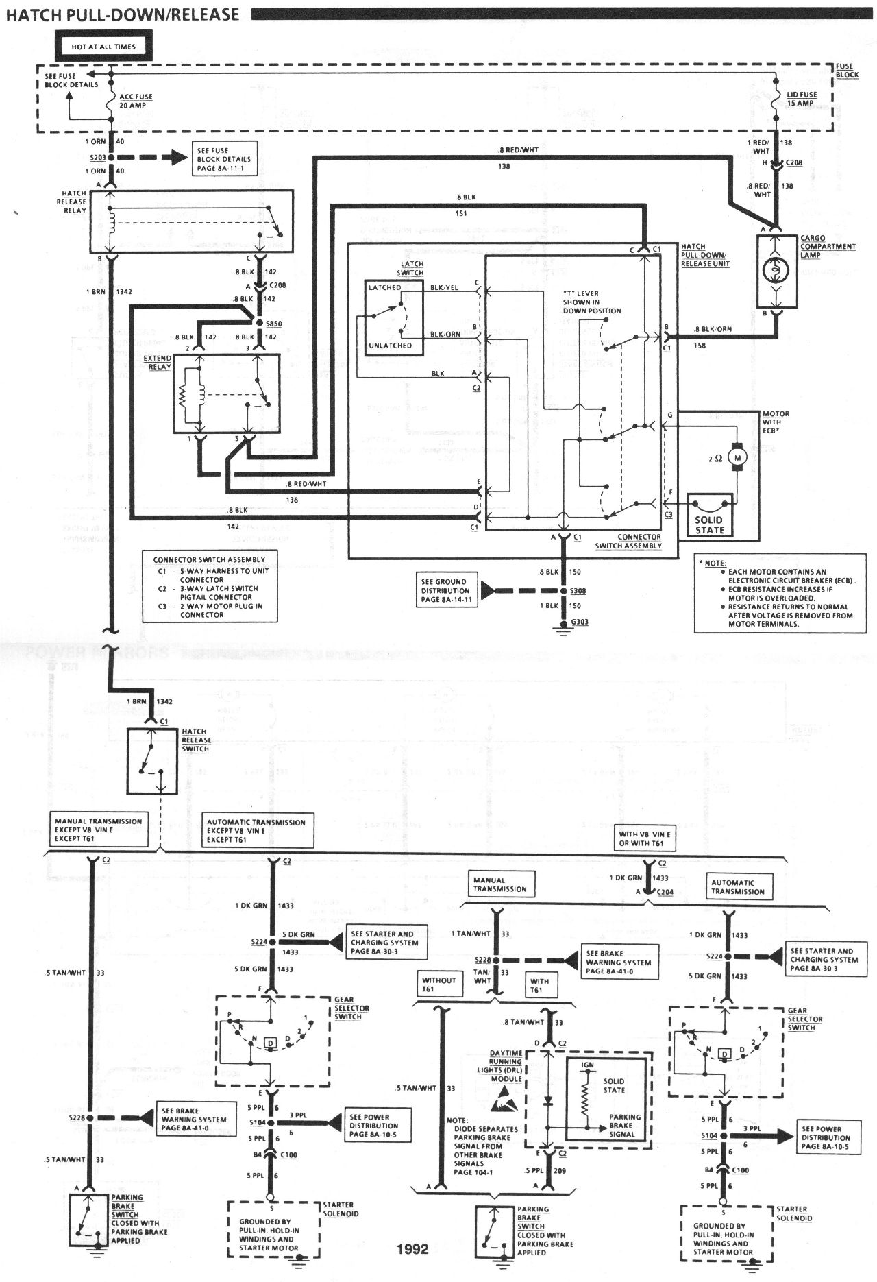 90 Camaro Fuse Box Diagram