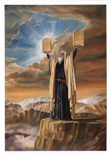 Image result for moses with tablets