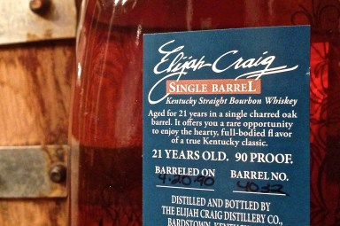 Elijah Craig 21 Single Barrel