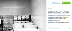 Staplehouse's Instagram