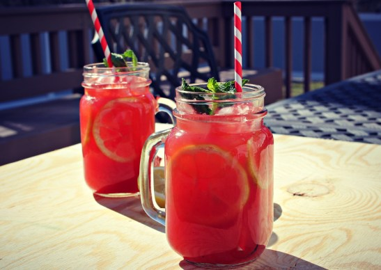 watermelon and cucumber water