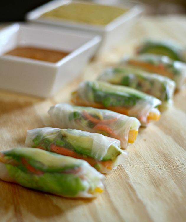 vegan veggie rolls rice paper