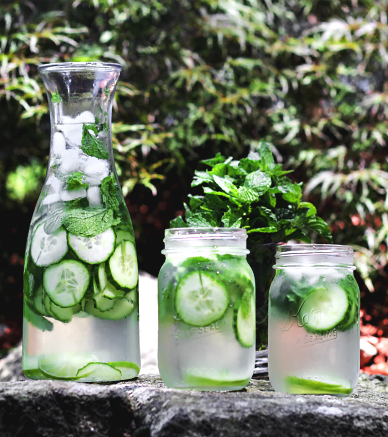 Cucumber and Mint Infused Water