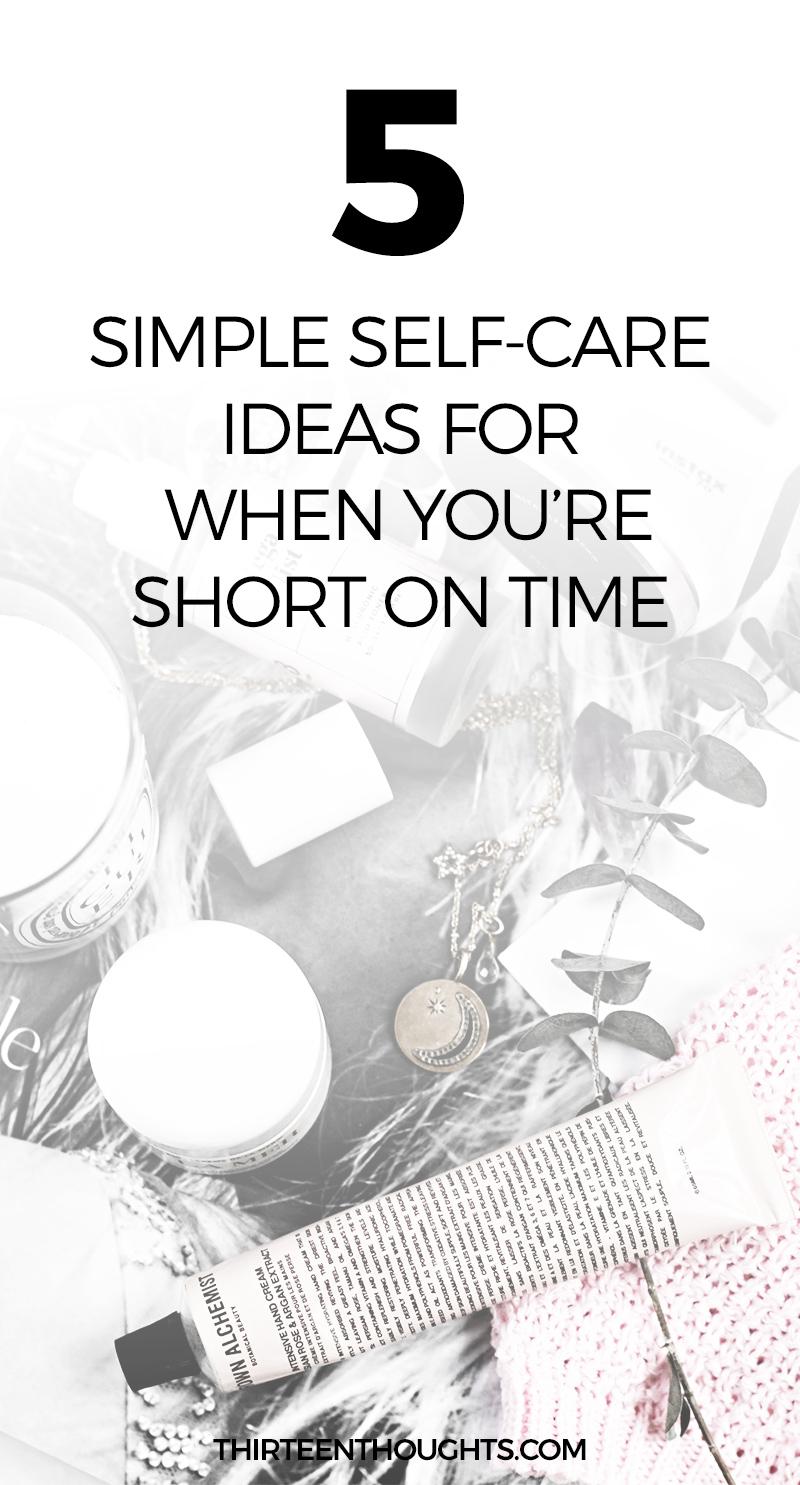 5 Simple Self-Care Ideas