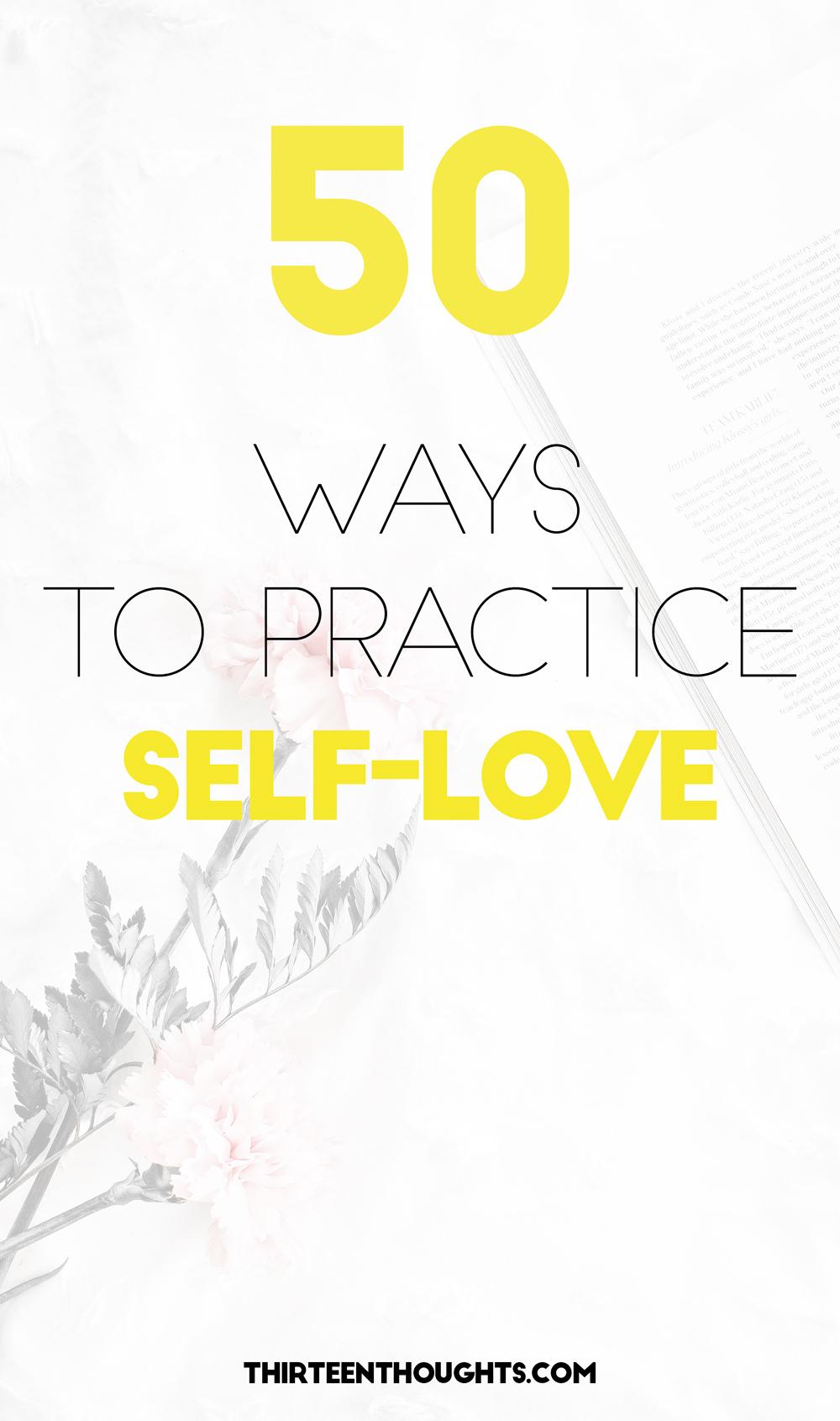 50 Ways to Practice Self-Love