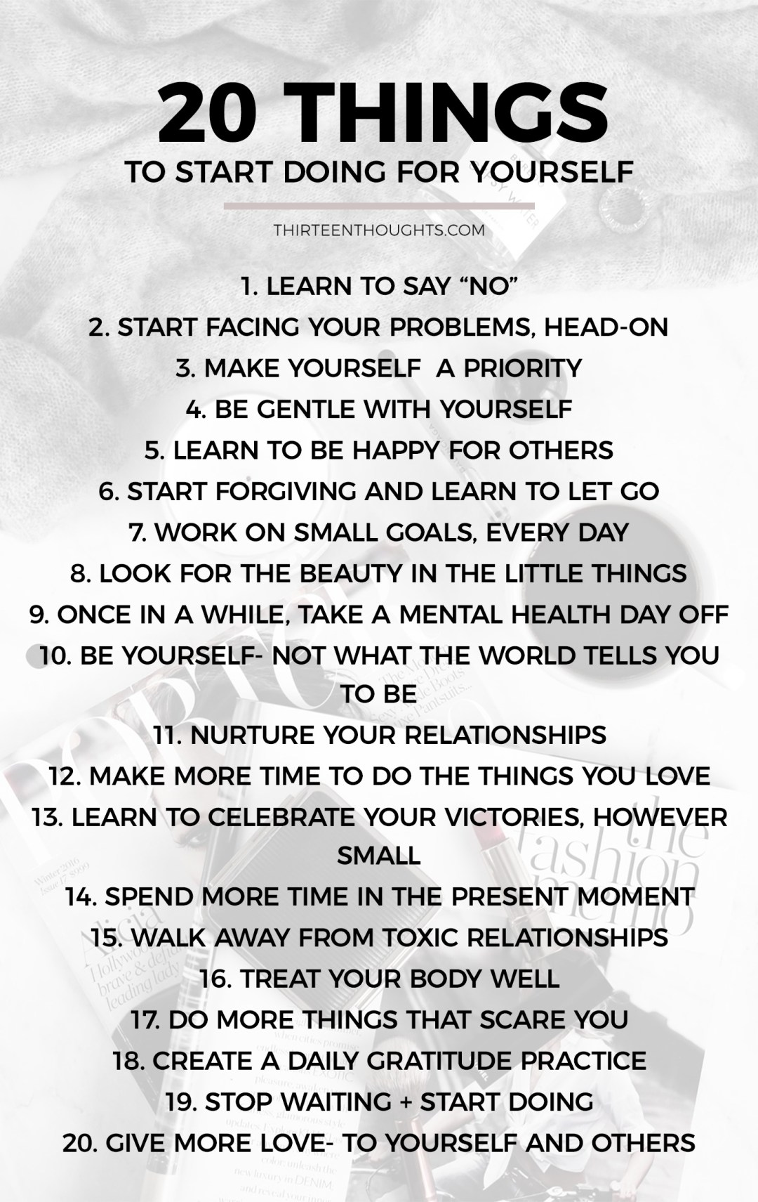 Things to do for yourself