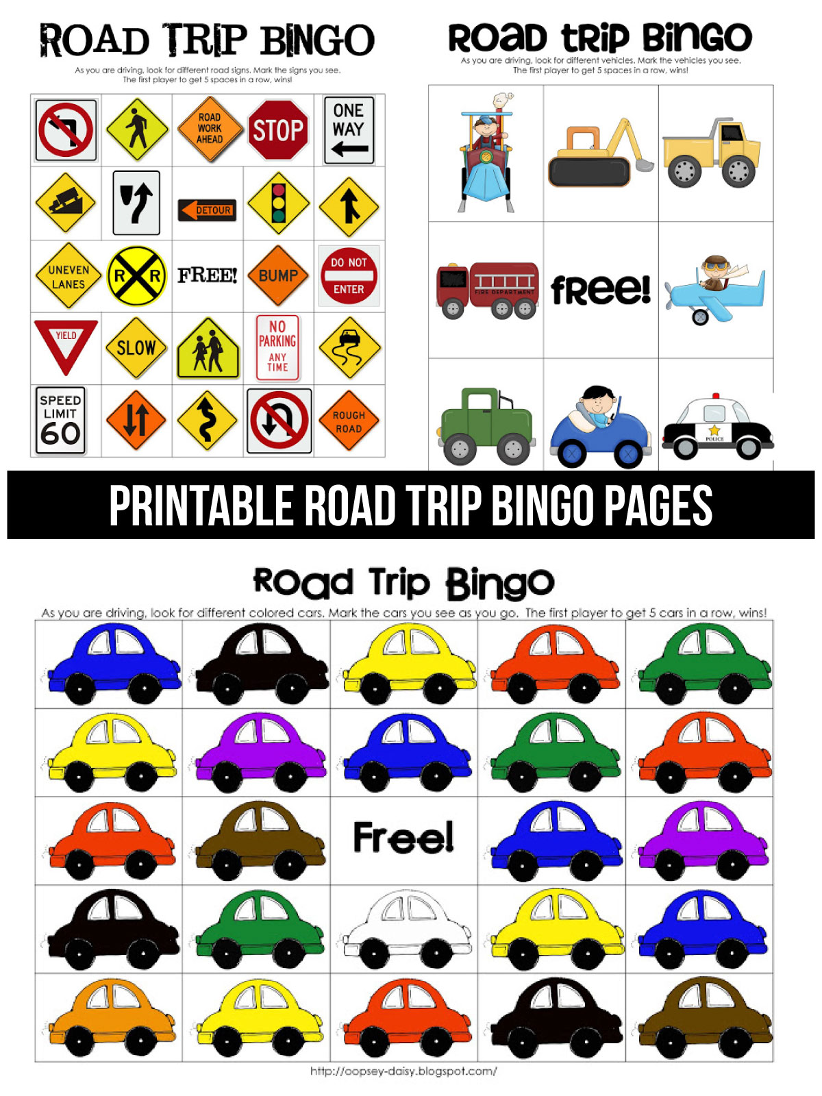 Printable Road Trip Bingo
