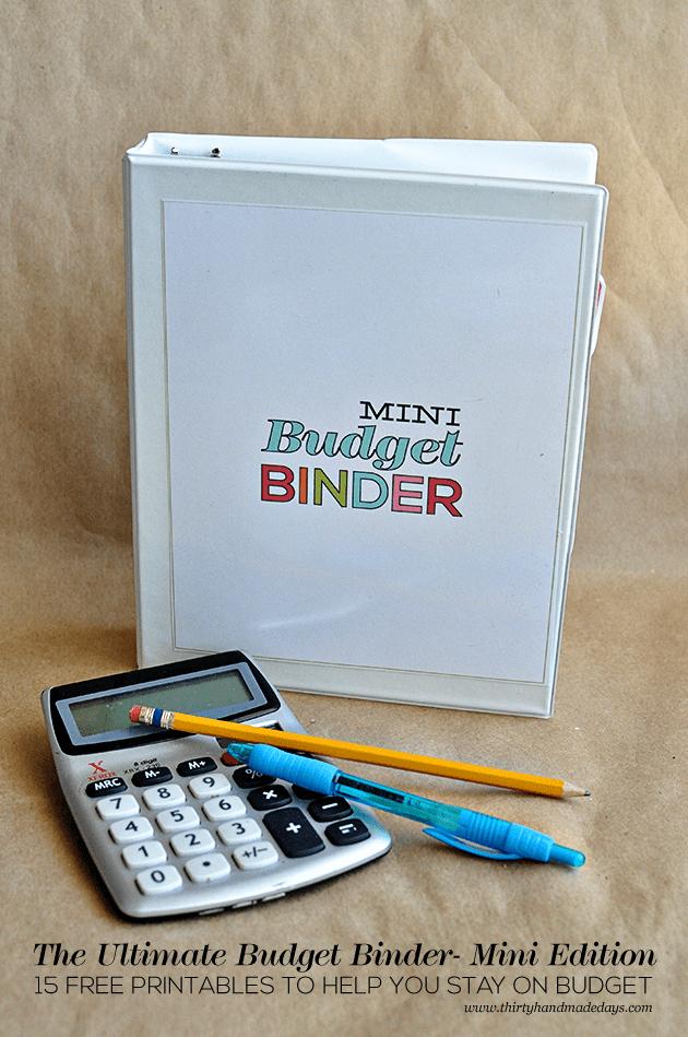 Printables 2019 Binder Budget Free