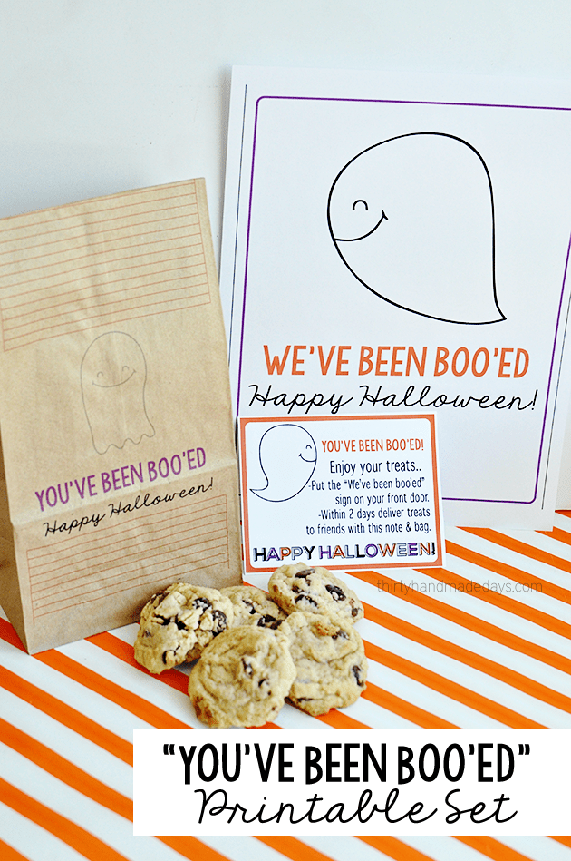 """You've been BOO'ED""  Halloween Printables Set 