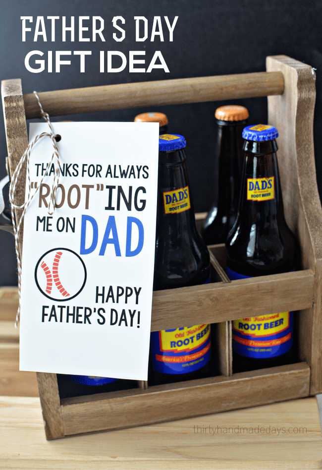 Printable Root Beer Fathers Day Gift Idea