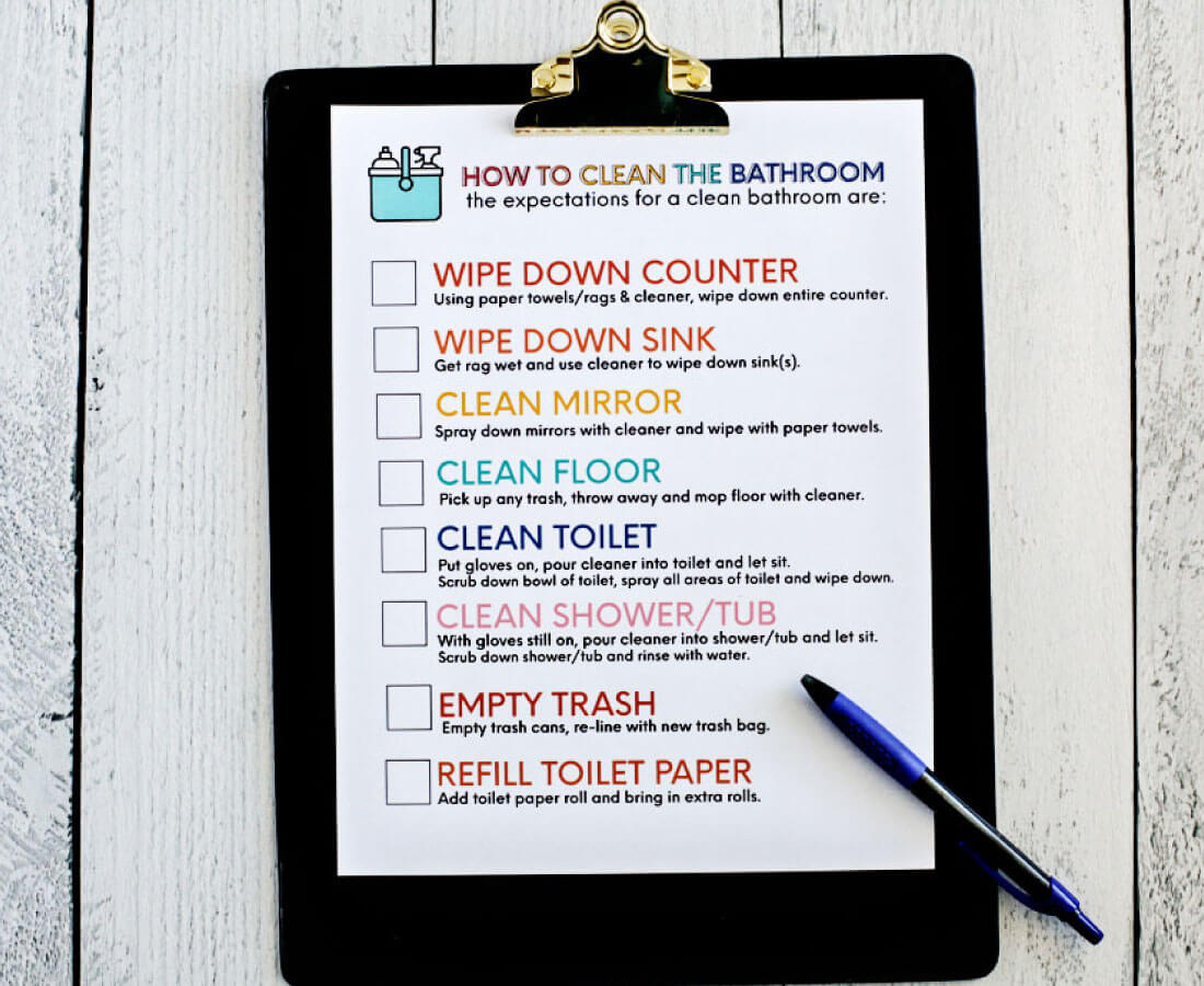 Bathroom Decor Checklist