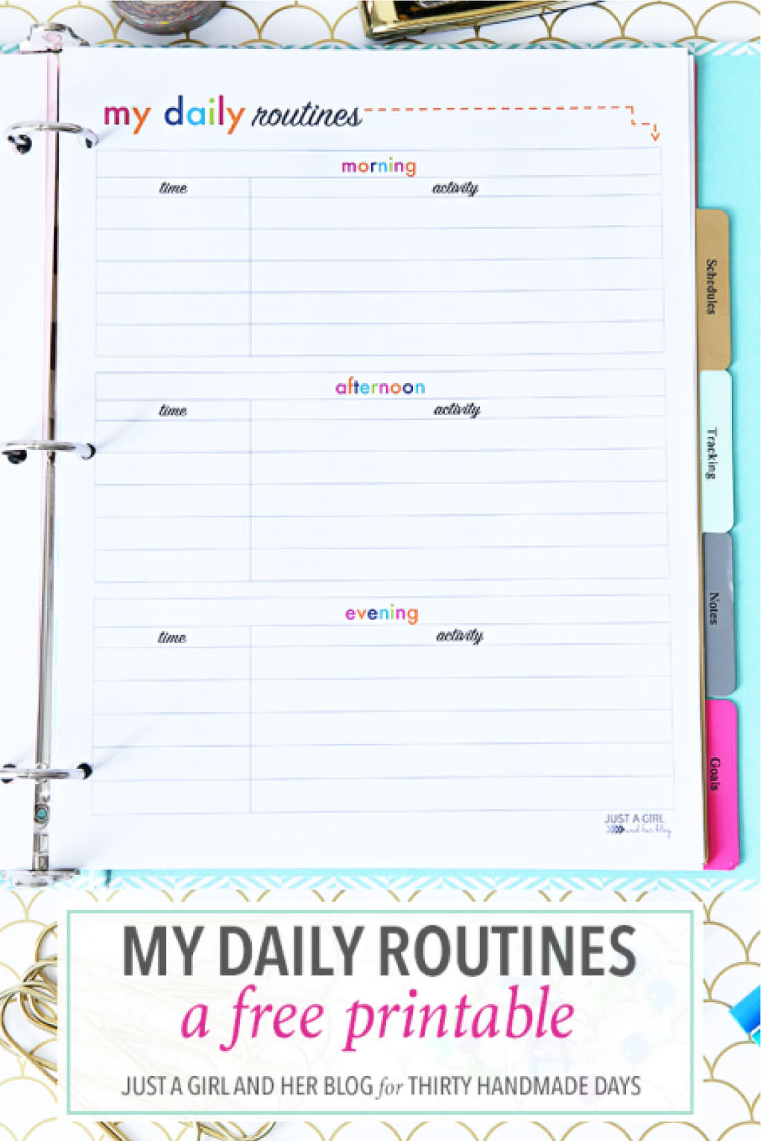 My Daily Routine Printable