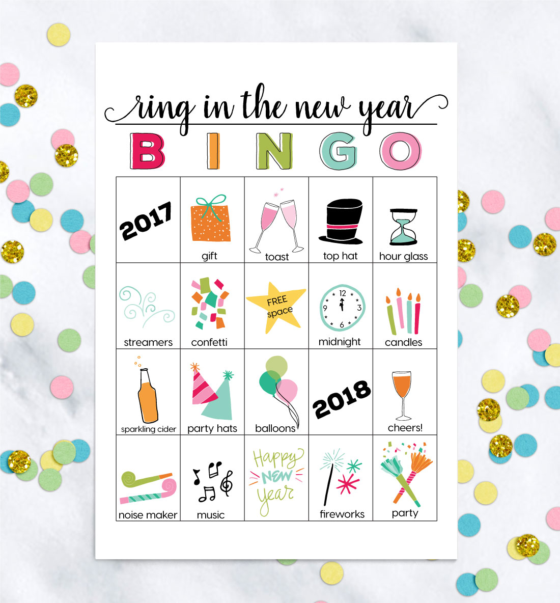 New Years Eve Worksheet
