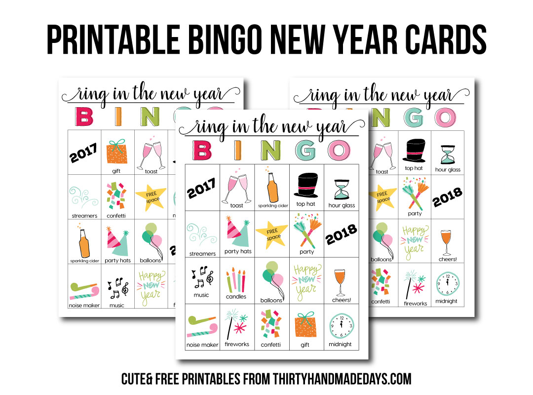 Printable New Year S Eve Bingo Sheets