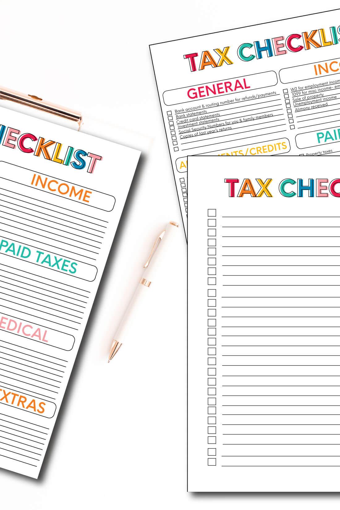 Small Business Tax Worksheet