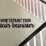 How To Paint Your Stair Railing And Banister Black From 30daysblog