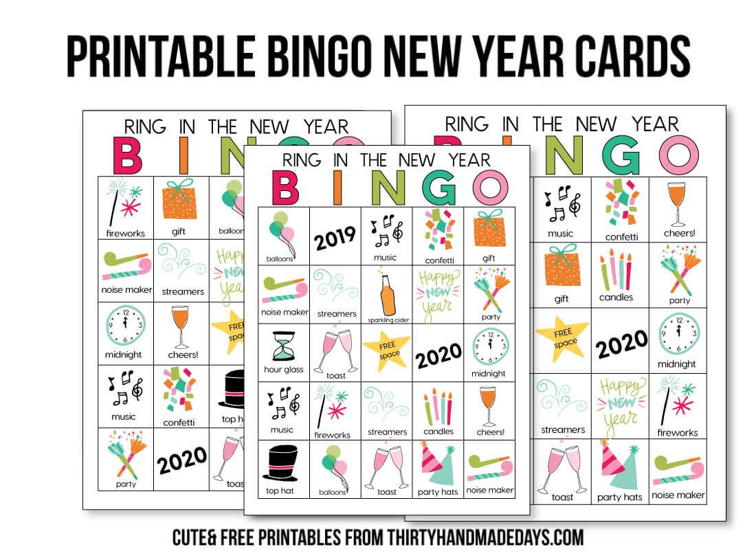 Printable New Year S Eve Bingo Sheets