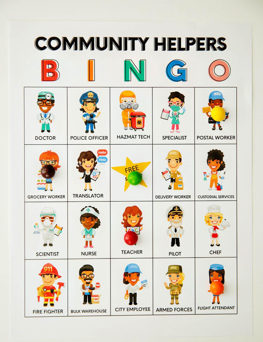 Printable Community Helpers Bingo From 30daysblog