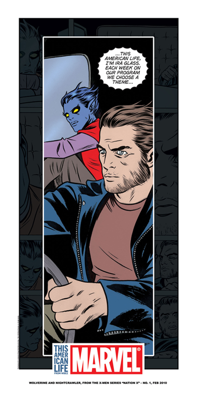 Wolverine & Nightcrawler listen to TAL from my story with Mike Allred in Nation X #1