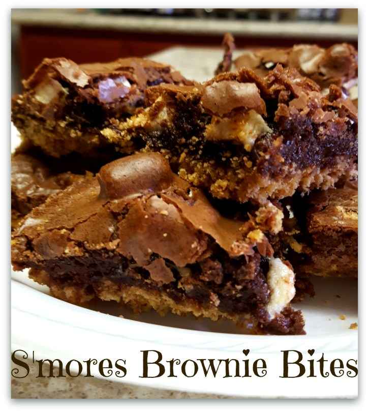 Easy S'mores Brownie Bites