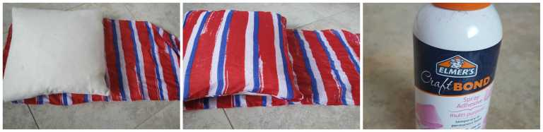 Patriotic No-Sew Pillow