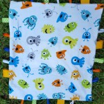 How to make a baby tag blanket from www.thisautoimmunelife.com