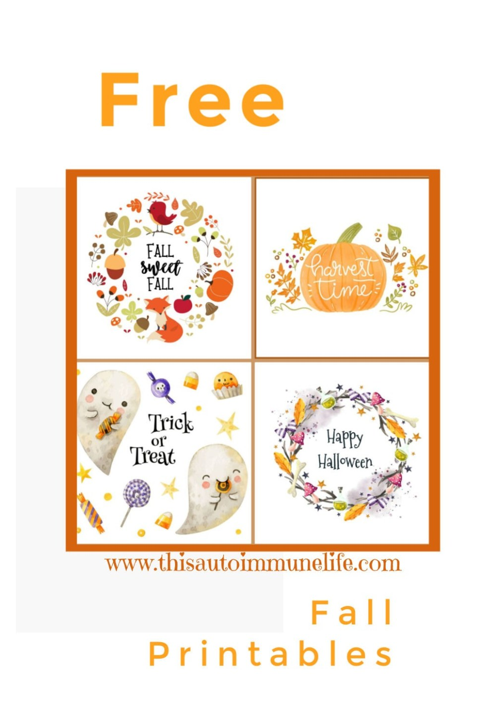 Free Fall & Halloween Printables from www.thisautoimmunelife.com #fallprintables #free #Halloweenprintables