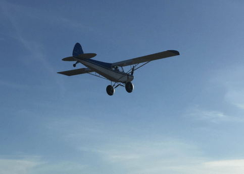 Airplane Flying Away