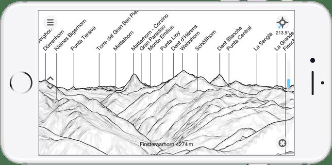 Peak Finder Earth App