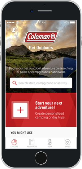Coleman Camping App