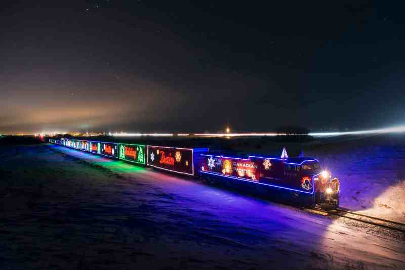 CP Holiday Train Stops in Alberta