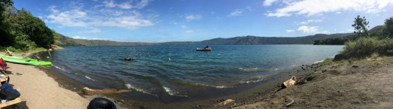 Panoramic image of Laguna de Apoyo near Granada, Nicaragua.