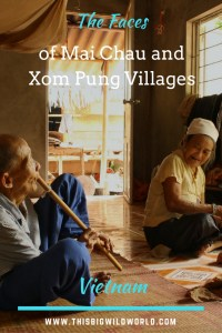 A elderly couple invites us into their home in Xom Pung Village in Vietnam to share tea and listen to the husband playing his bamboo flute.