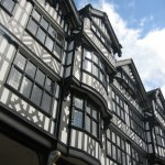 Image of black and white building in the city centre of Chester in England.