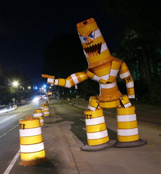 road-barrel