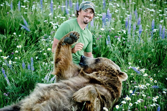 The Man living with a Grizzly bear   Casey and Brutus ...