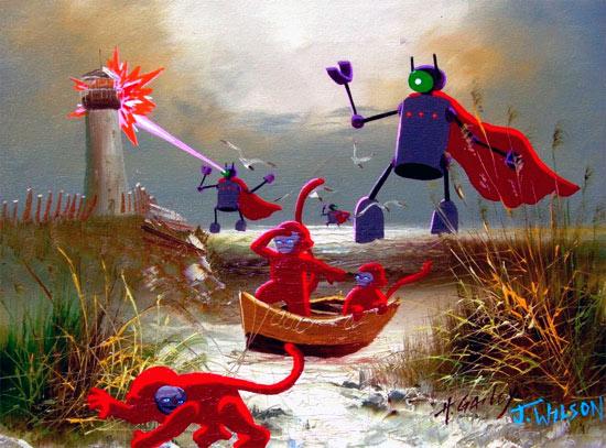 sea-light-house-robots-pain