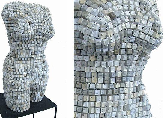 keyboard-sculpture