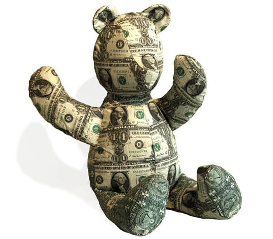 money-teddy-bear